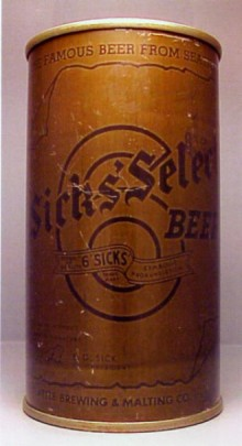 Sicks Select (Olive Drab) Beer Can