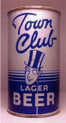 Town Club Lager Beer Can