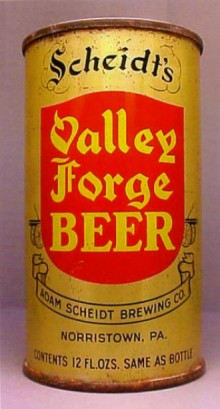 Scheidts Valley Forge Beer Can