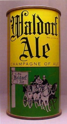 Waldorf Ale Beer Can