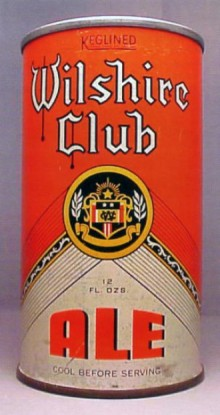 Wilshire Club Ale Beer Can