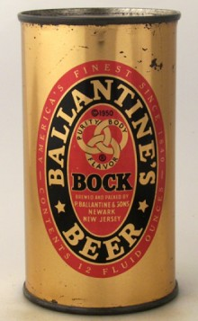 Ballantine's Bock Beer Can