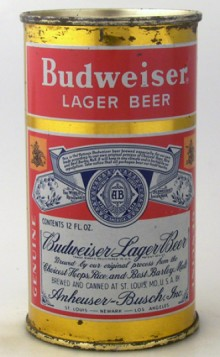 Budweiser Lager Beer Can