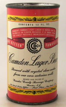Camden Lager Beer Can