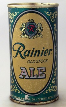 Rainier Old Stock Beer Can