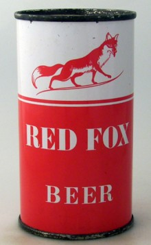 Red Fox Beer Can