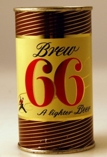 Brew 66 A Lighter Brew Beer Can