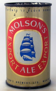 Molson's Export Beer Can